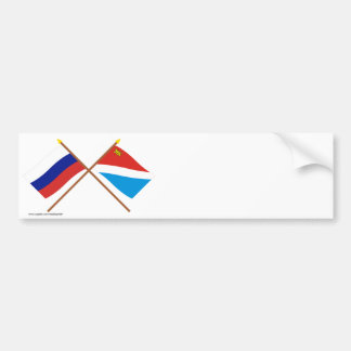 Crossed flags of Russia and Primorsky Krai Bumper Sticker