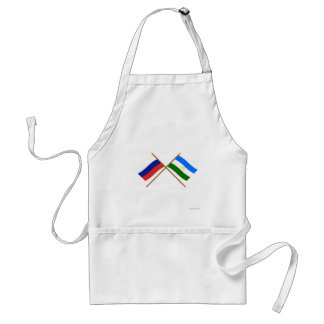 Crossed flags of Russia and Rep. of Bashkortostan Standard Apron