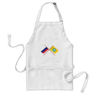 Crossed flags of Russia and Republic of Kalmykia Standard Apron