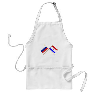 Crossed flags of Russia and Republic of Mordovia Standard Apron