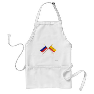 Crossed flags of Russia and Ryazan Oblast Standard Apron