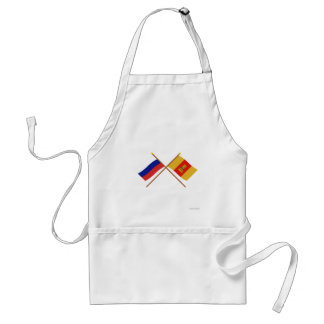 Crossed flags of Russia and Tver Oblast Standard Apron