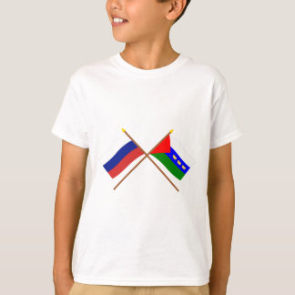 Crossed flags of Russia and Tyumen Oblast T-Shirt