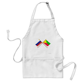 Crossed flags of Russia and Zabaykalsky Krai Aprons