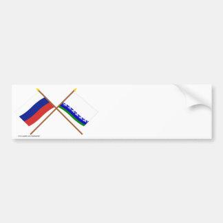 Crossed flags of Russia & Nenets Autonomous Okrug Bumper Stickers
