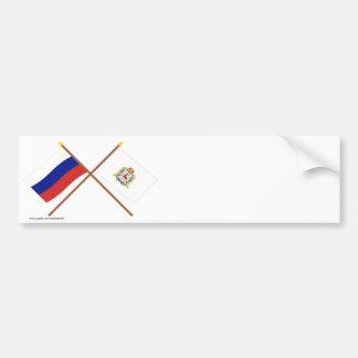 Crossed flags of Russia & Nizhniy Novgorod Oblast Bumper Stickers
