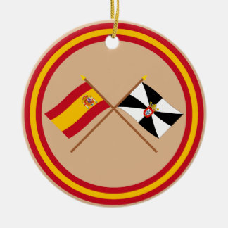 Crossed flags of Spain and Ceuta Christmas Ornament