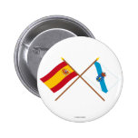 Crossed flags of Spain and Galicia
