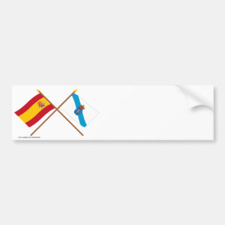 Crossed flags of Spain and Galicia Bumper Sticker