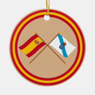 Crossed flags of Spain and Galicia Christmas Ornament