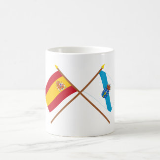 Crossed flags of Spain and Galicia Basic White Mug