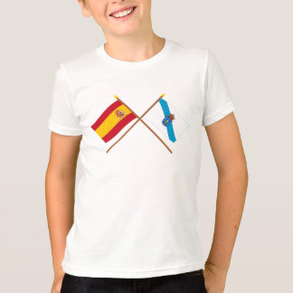 Crossed flags of Spain and Galicia T-Shirt