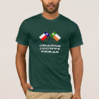 Crossed Flags of Texas and Orange County T-Shirt