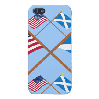 Crossed Flags of the USA and Scotland (Cross) iPhone 5/5S Case