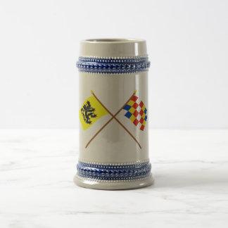 Crossed Flanders and Antwerp Flags Beer Stein
