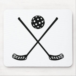 Crossed floorball sticks mouse mat