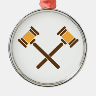 Crossed Gavels Christmas Ornament
