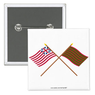 Crossed Grand Union and Ft Sackville Flags 15 Cm Square Badge