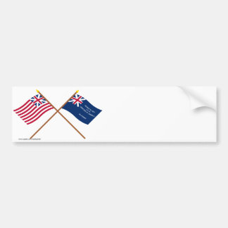 Crossed Grand Union and George Rex Flags Bumper Sticker