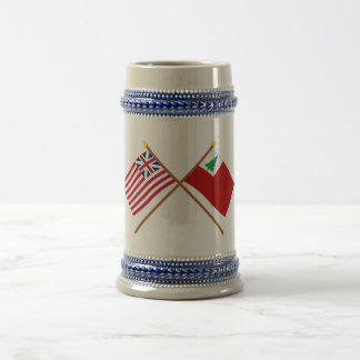 Crossed Grand Union and New England Flags Beer Steins