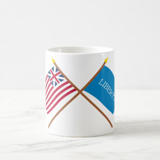 Crossed Grand Union and Schenectady Liberty Flags Basic White Mug