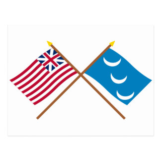 Crossed Grand Union and South Carolina Militia Fla Postcard