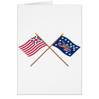 Crossed Grand Union and Whiskey Rebellion Flags Cards