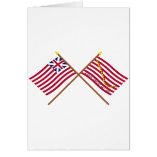 Crossed Grand Union Flag and Navy Jack Greeting Cards