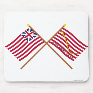 Crossed Grand Union Flag and Navy Jack Mousepads