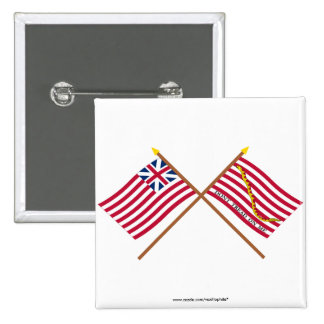 Crossed Grand Union Flag and Navy Jack Pins