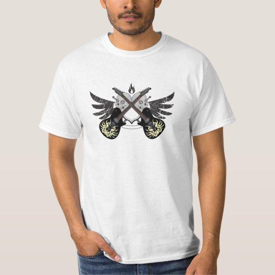 Crossed Guitars and Skulls Value T-shirt