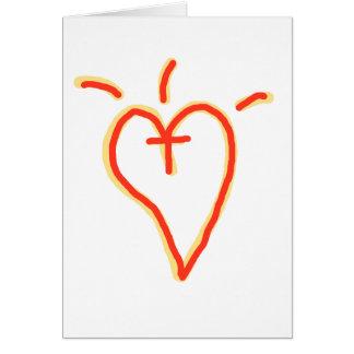 Crossed Heart Card