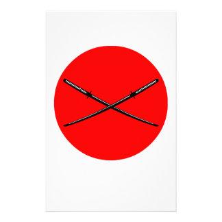 Crossed Japanese Katana Customised Stationery