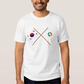 Crossed Korea and Kyongsangnam-do Flags Tshirt