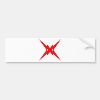 Crossed Lightning Bumper Sticker