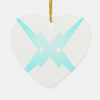 Crossed Lightning Ceramic Heart Decoration