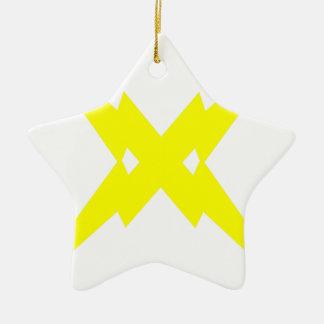 Crossed Lightning Ceramic Star Decoration