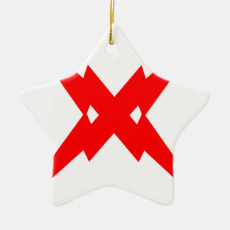 Crossed Lightning Ceramic Star Decoration
