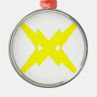 Crossed Lightning Christmas Ornament