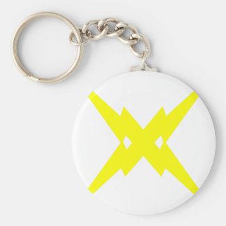 Crossed Lightning Key Chains
