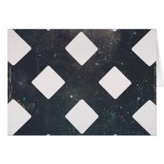 Crossed Lines, Scratchy Pattern, Rhombuses Greeting Card