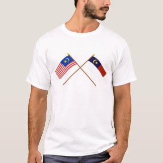 Crossed Malaysia and Malacca (Melaka) flags T-Shirt