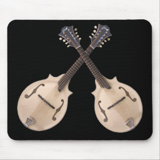 CROSSED MANDOLINS-MOUSEPAD MOUSE MAT