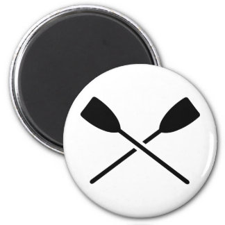 Crossed oars 6 cm round magnet
