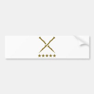 Crossed oboe stars bumper sticker