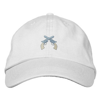 Crossed Pistols Embroidered Hats