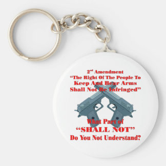 Crossed Pistols What Part Of Shall Not Don't You U Key Chains