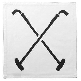 Crossed polo mallets napkin