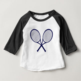 Crossed Rackets Silhouette Baby T-Shirt