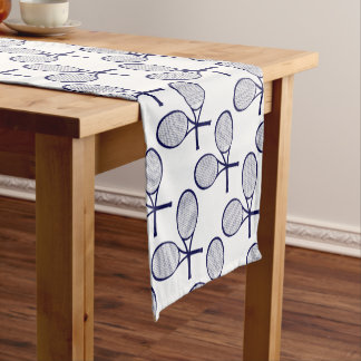 Crossed Rackets Silhouette Short Table Runner